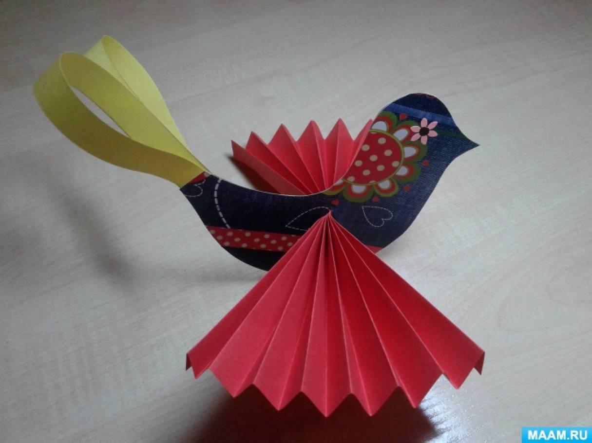 Мастер-класс по конструированию в старшей группе «Птица счастья»