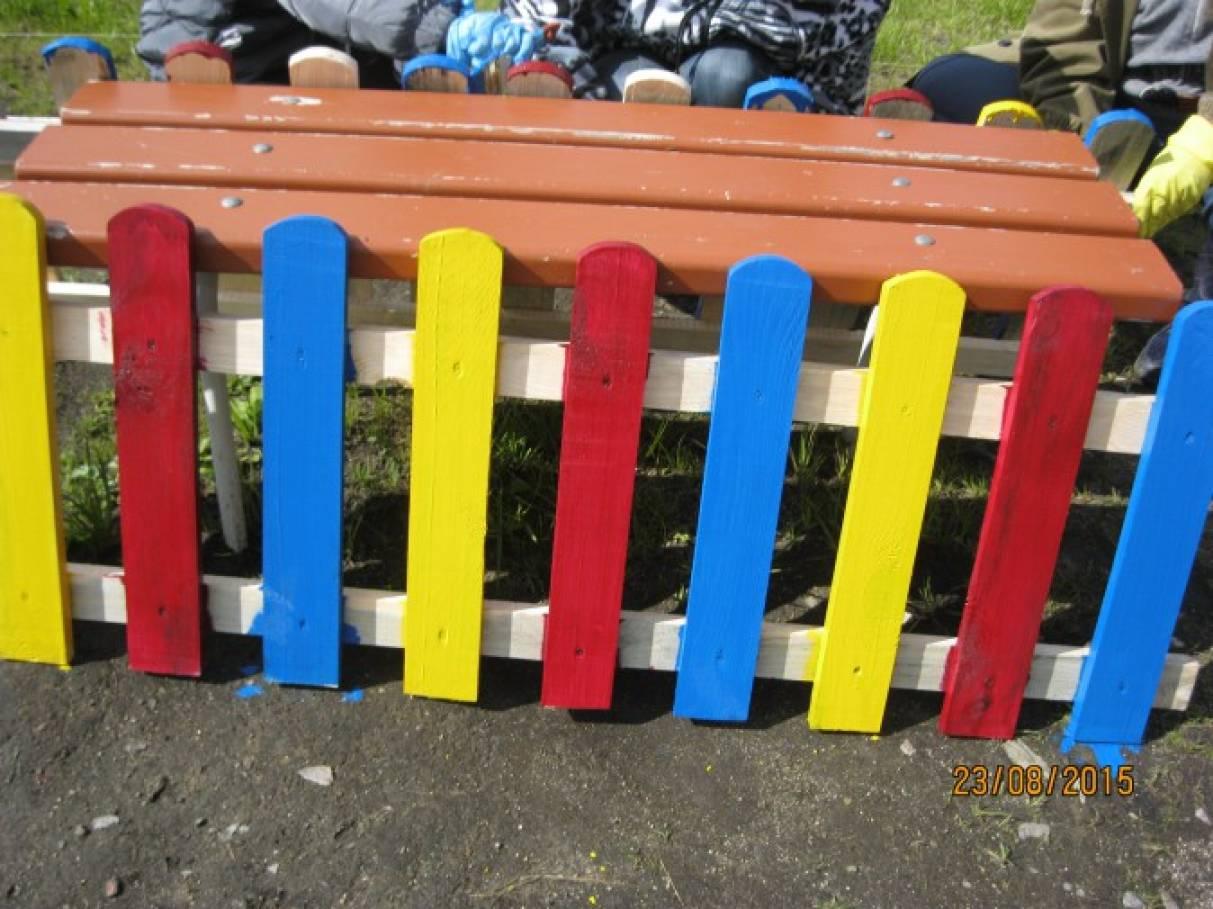 Забор для детского сада своими руками