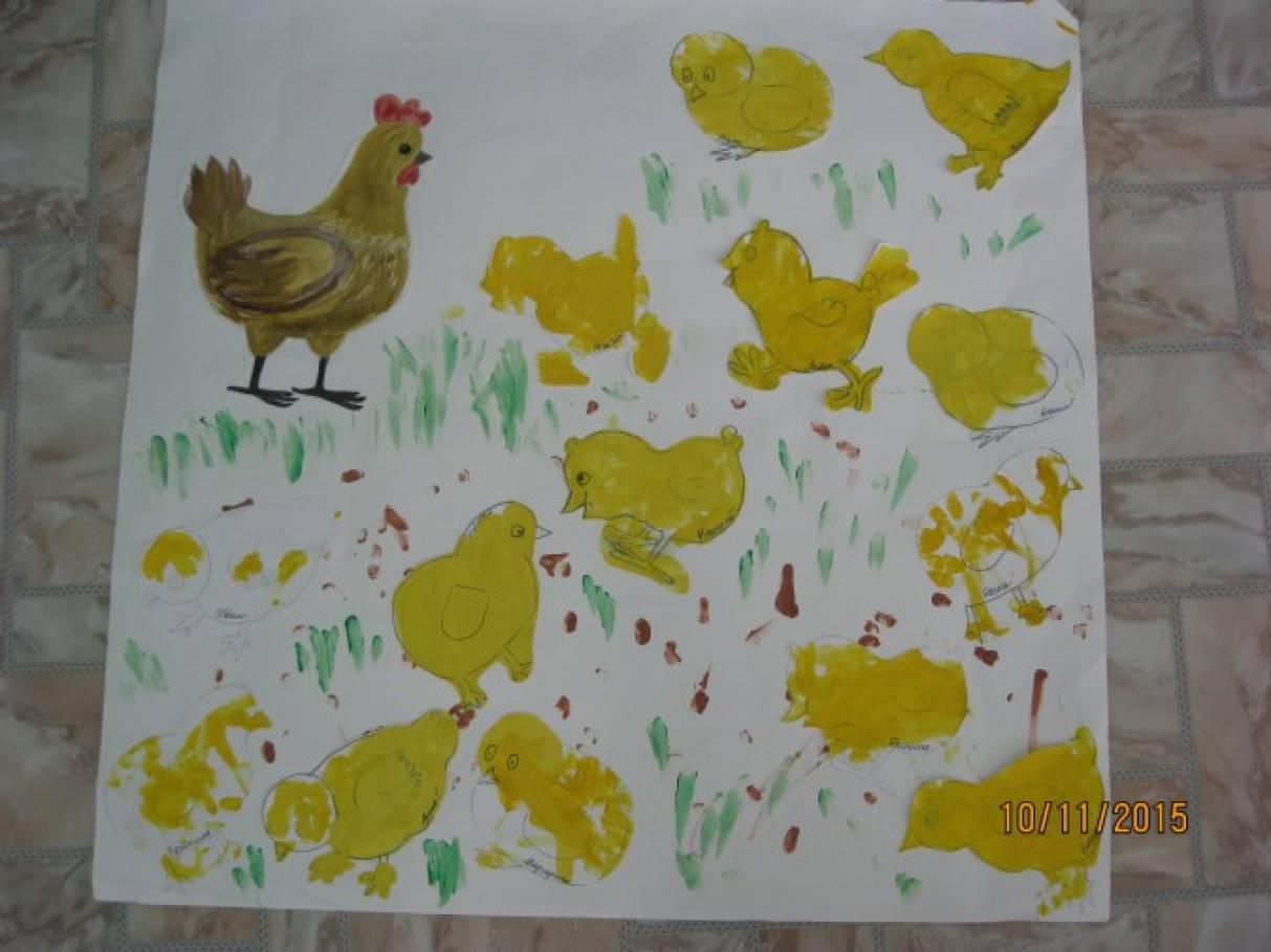 Конспект по рисованию во второй младшей на тему домашние птицы