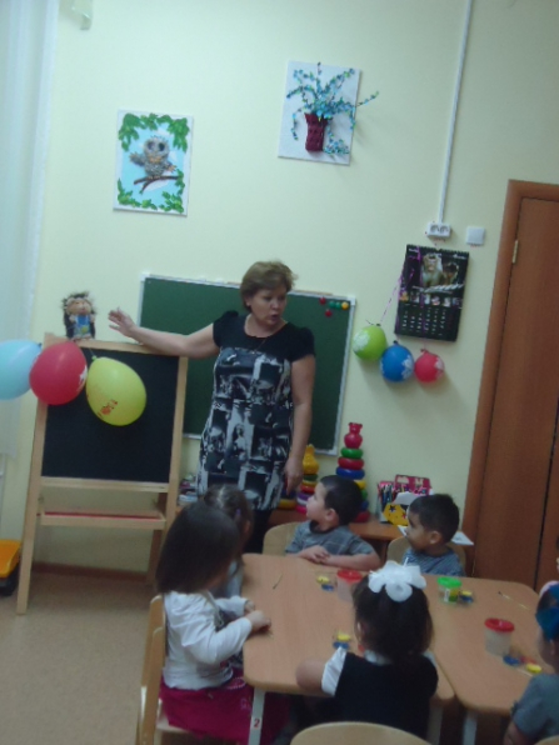 Занятие по рисованию гуашевыми красками «Воздушные шары» в младшей группе