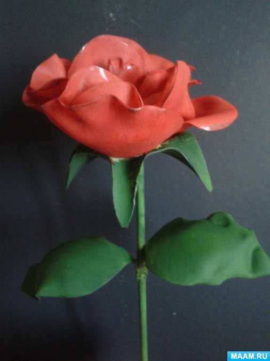 Мастер-класс розы из пластиковой бутылки
