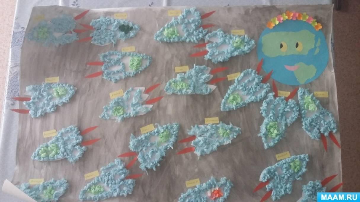 Нетрадиционная техника аппликации из салфеток «Ракеты»