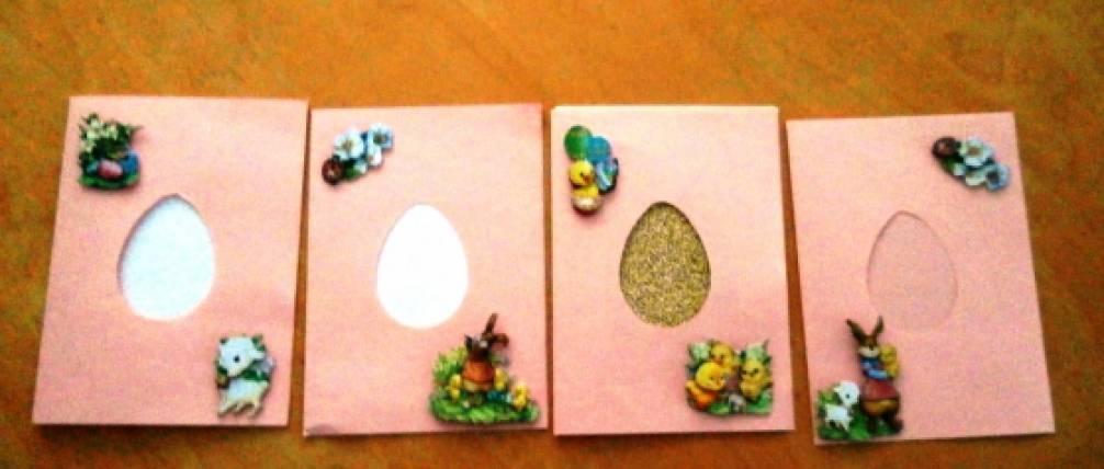 Мастер-класс Пасхальной открытки «Золотое яичко»