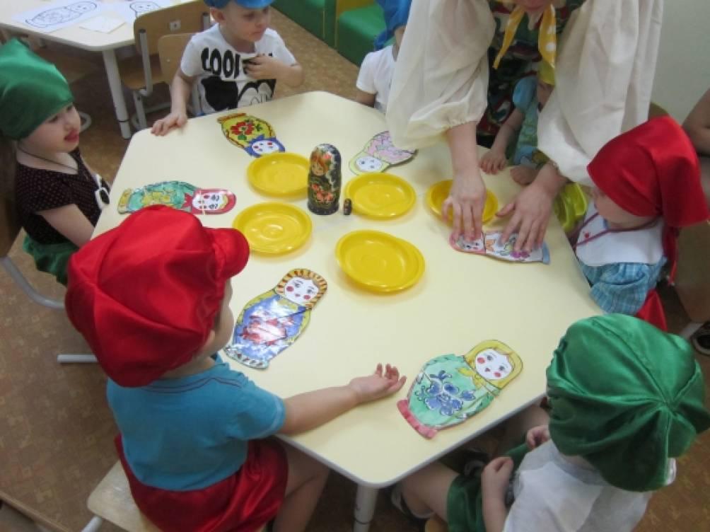 знакомство детей средней группы с кругом