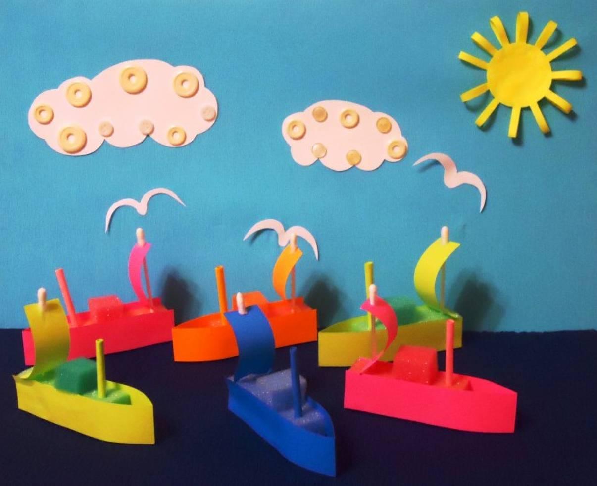 «Плыви, плыви, кораблик!» Поделка из бросового материала. Детский мастер-класс