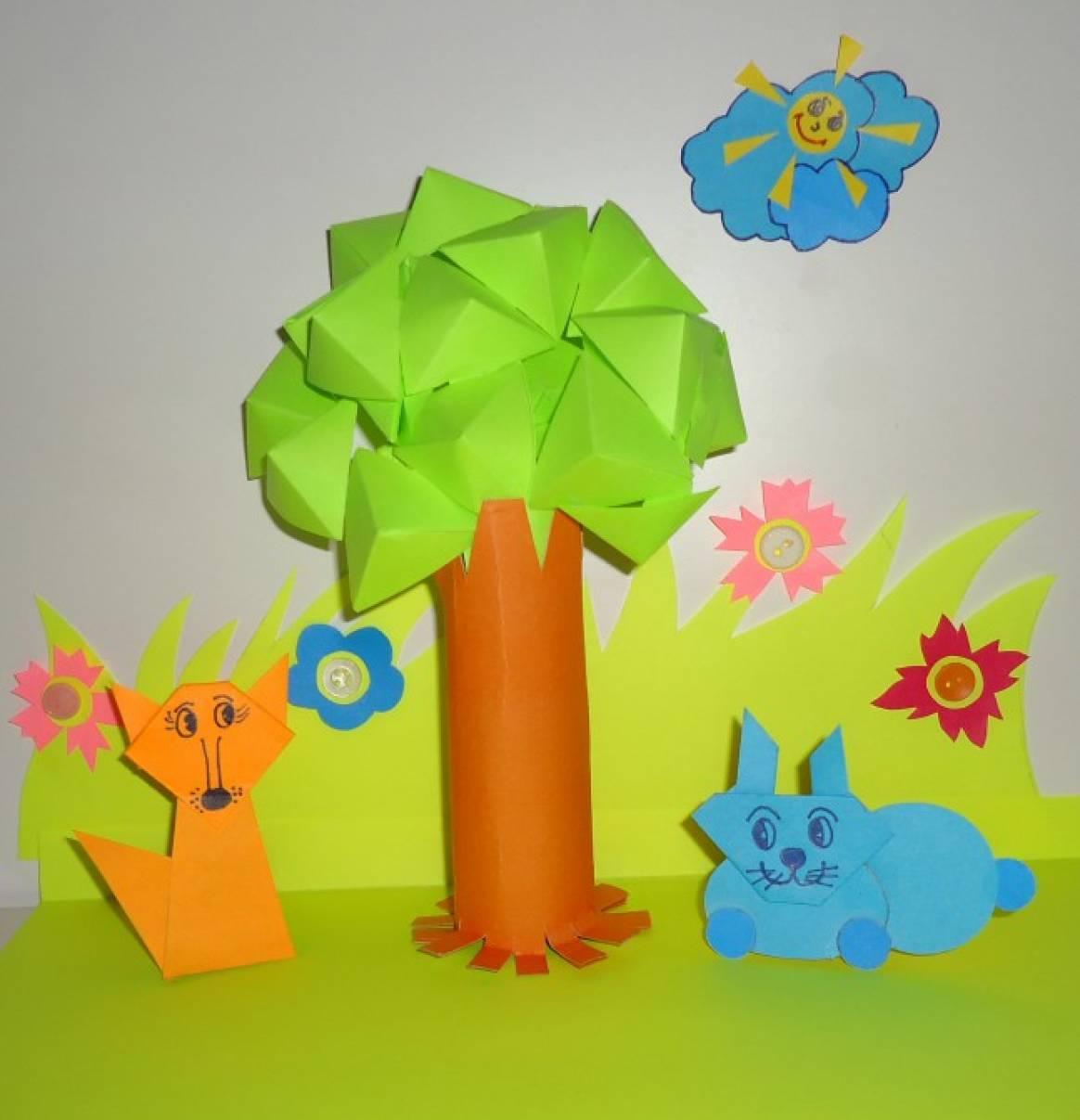 Поделки деревья из бумаги фото
