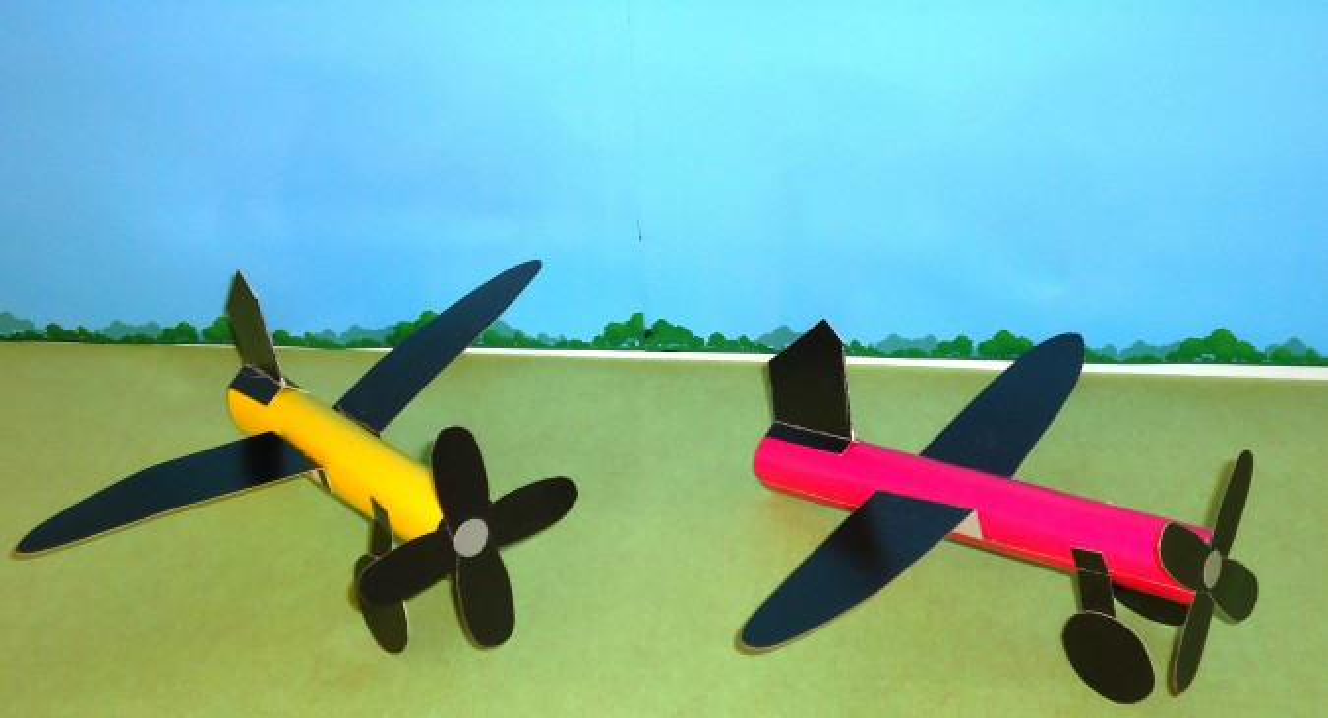 «Самолёт» Подарок для мальчишек Мастер-класс самолёт из картона (средняя группа)