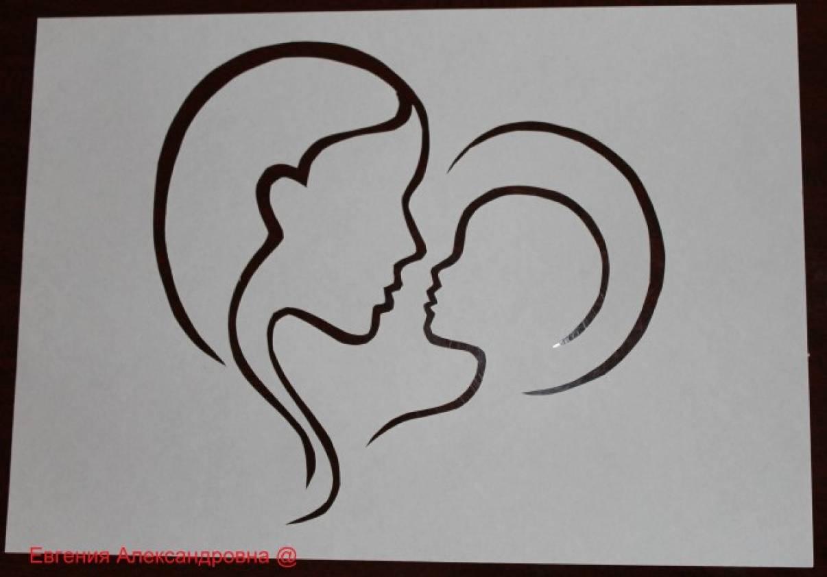Вытынанка мать и дитя