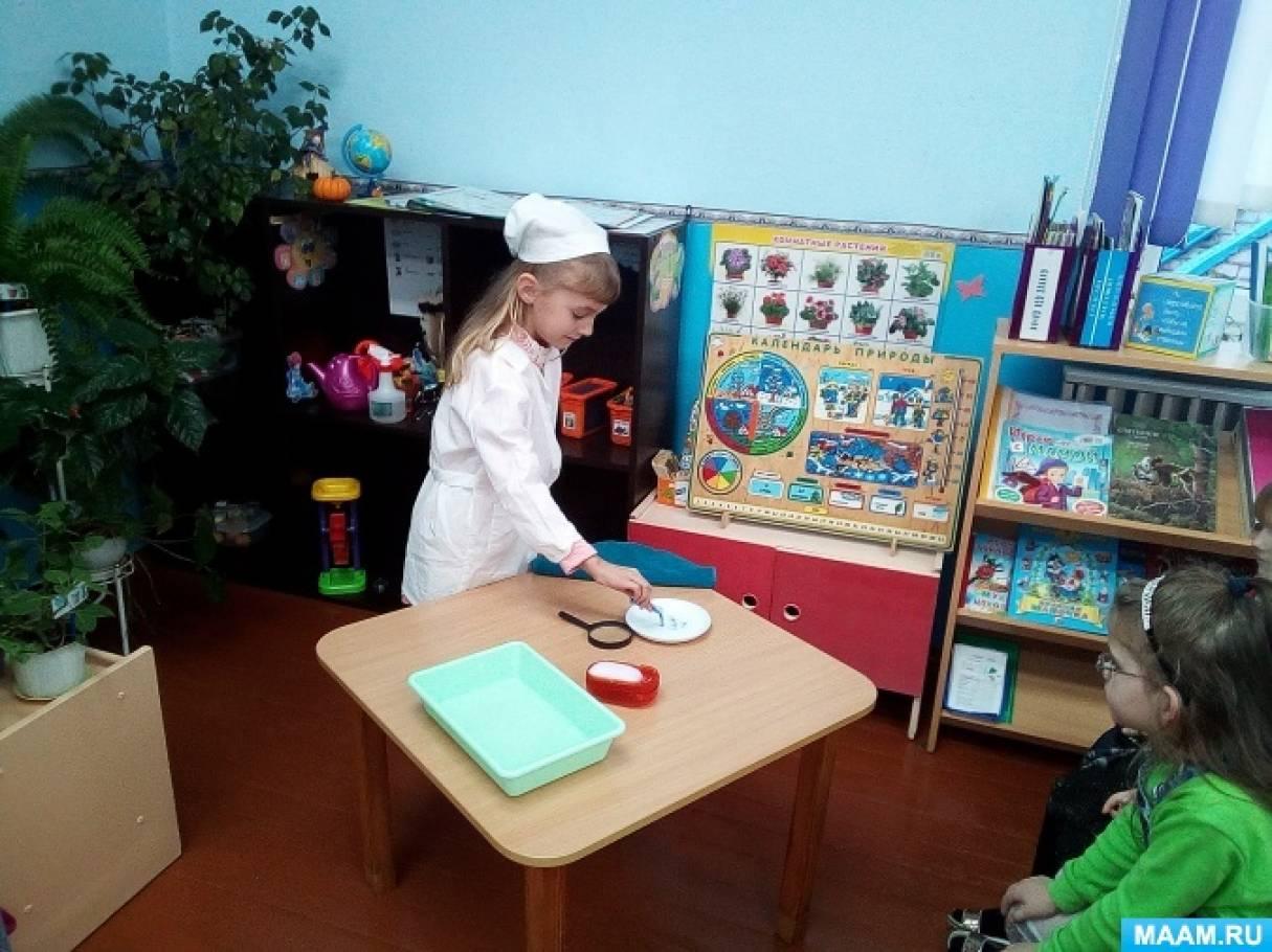 Исследовательская работа в детском саду «Легко ли передаются микробы»