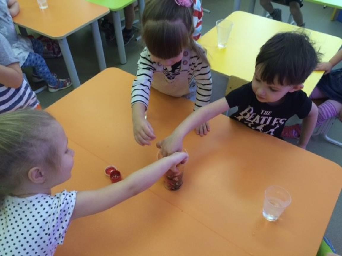 знакомство со свойствами воды в младшей группе