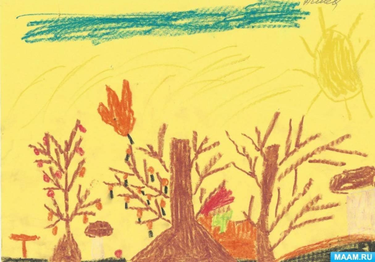 Сюжетные картинки для детей поздняя осень