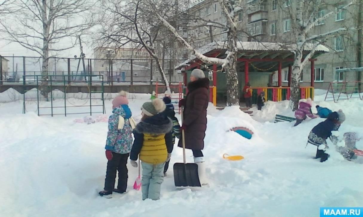 Оборудование участка детского сада для организации прогулки зимой