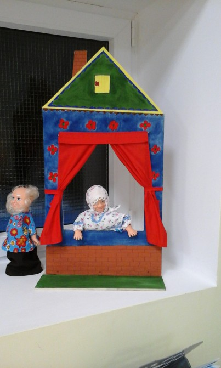 Простая ширма для кукольного театра своими руками 48
