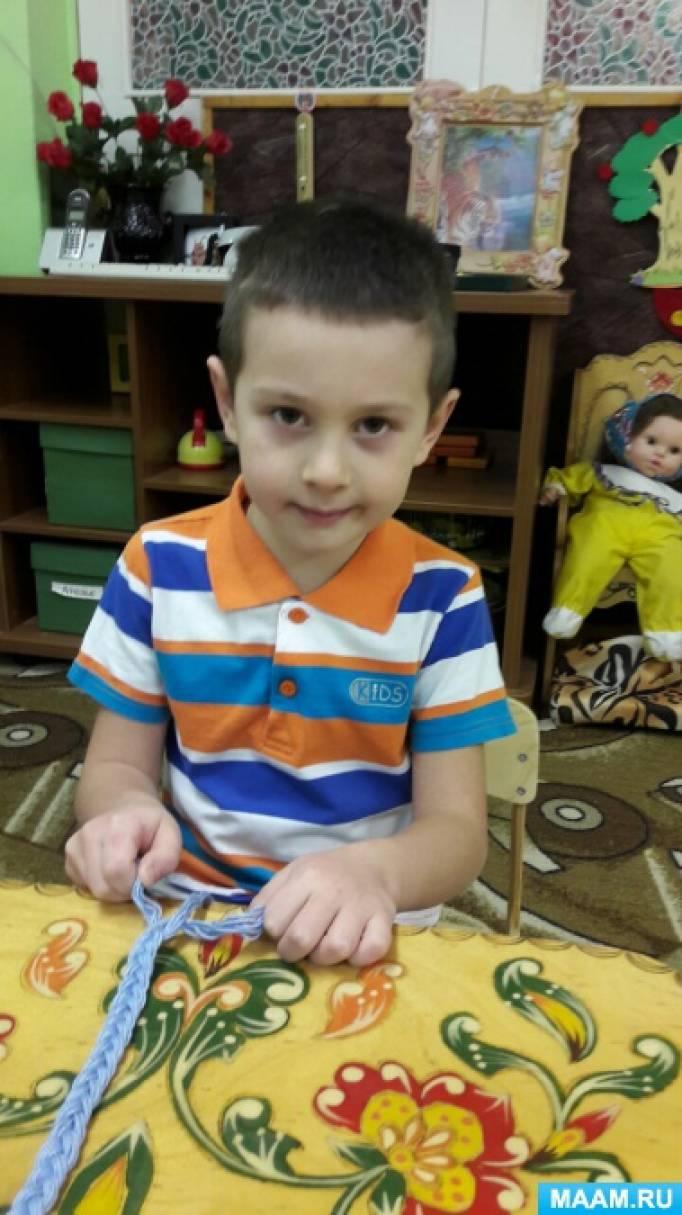 Первые шаги в макраме: плетение верёвочек. Мастер-класс
