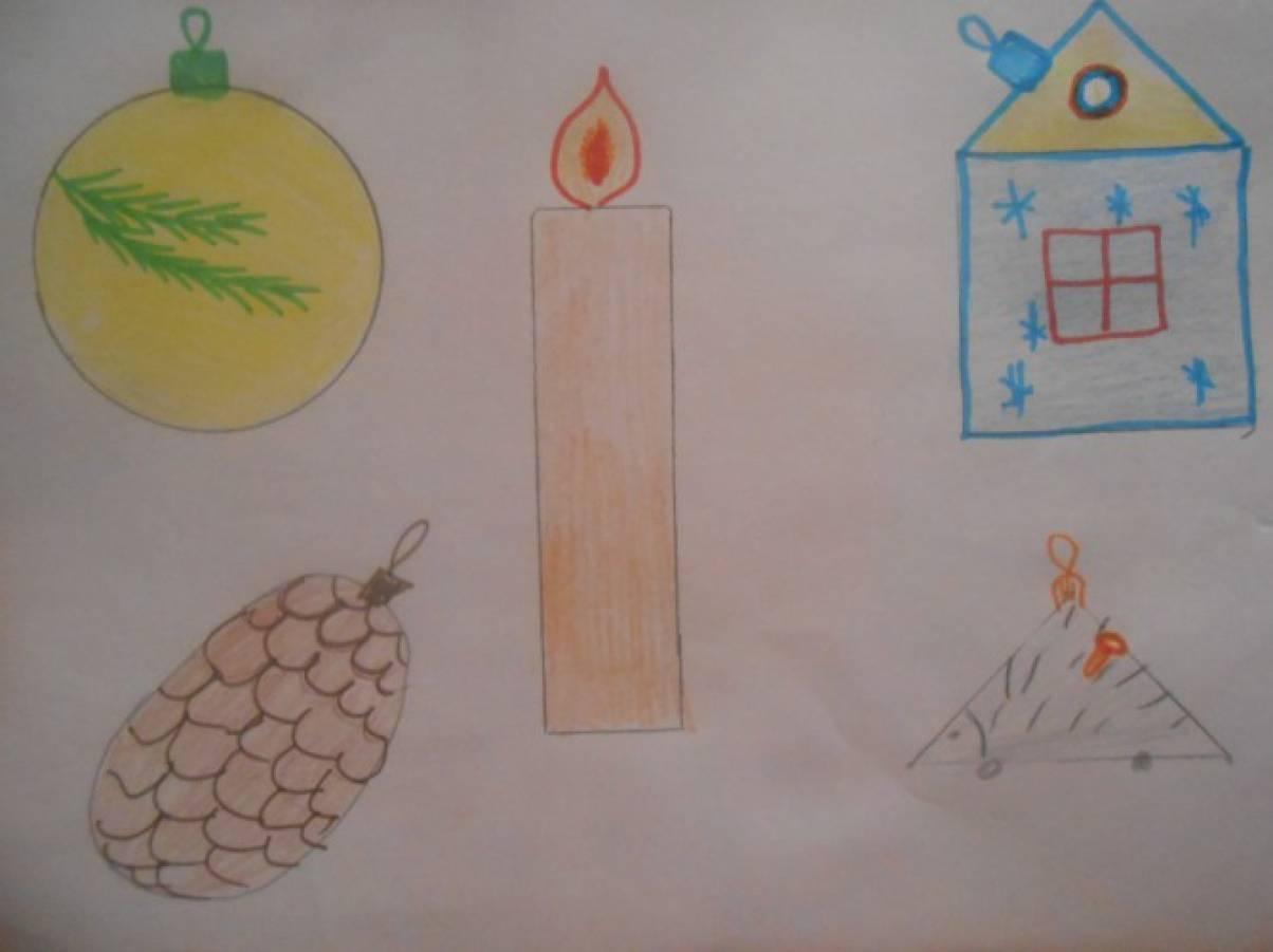 План конспект по изо рисование с натуры елочных игрушек