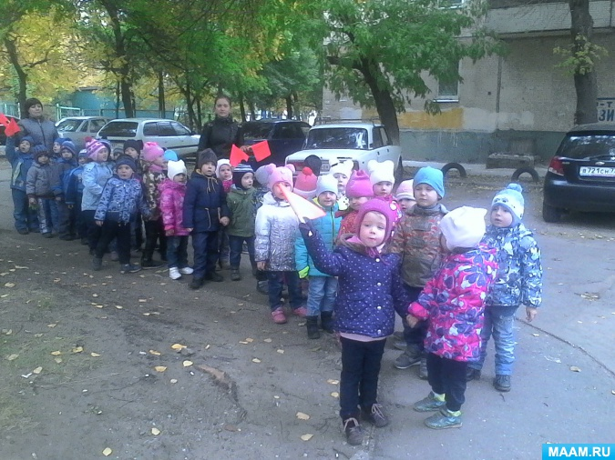 Наблюдение на прогулке. Конспект занятия по ПДД для детей среднего дошкольного возраста