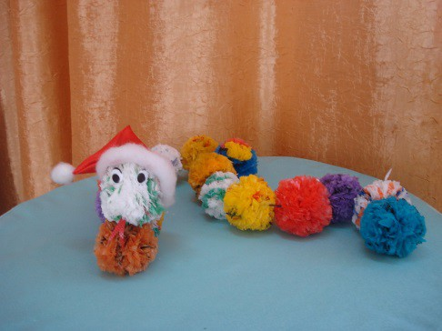 Игрушки из мусорных пакетов своими руками фото 89