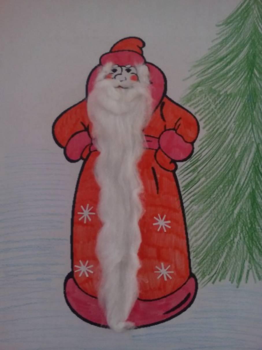 Конспект занятия по рисованию в подготовительной группе дед мороз