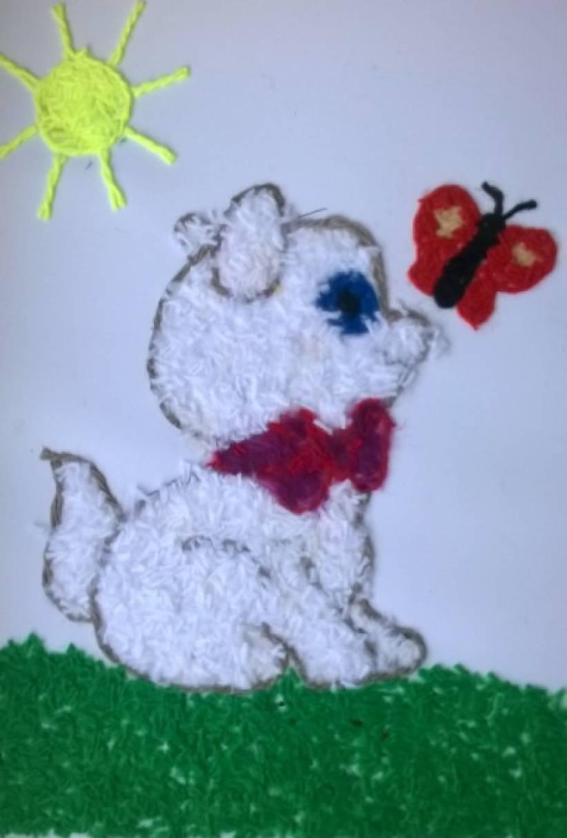 Детские картинки для аппликации из ниток