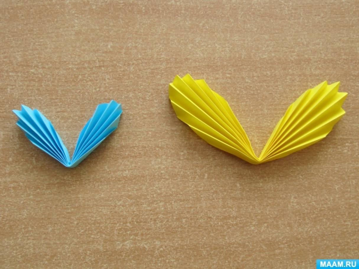 Бабочка из бумаги гармошкой открытка, открытка
