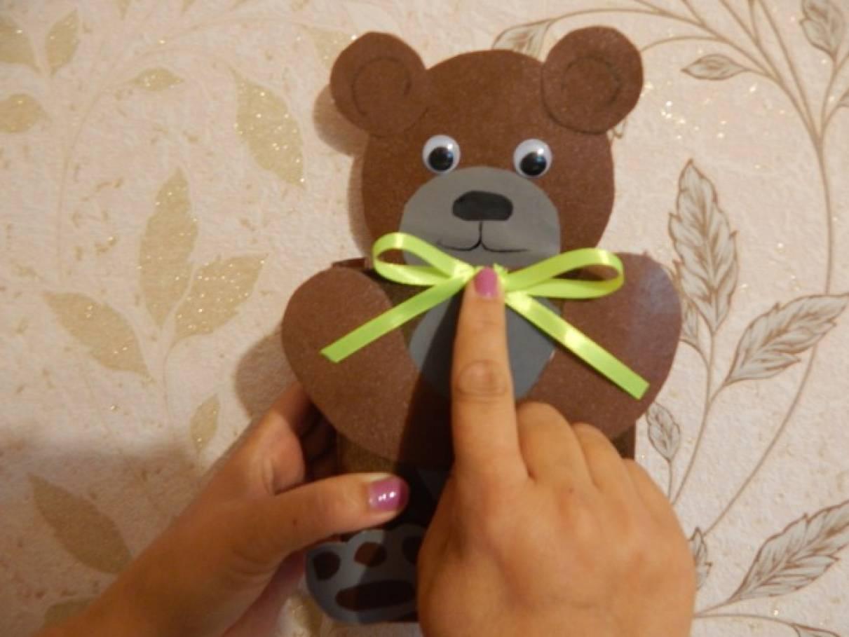 Мишка из коробок своими руками