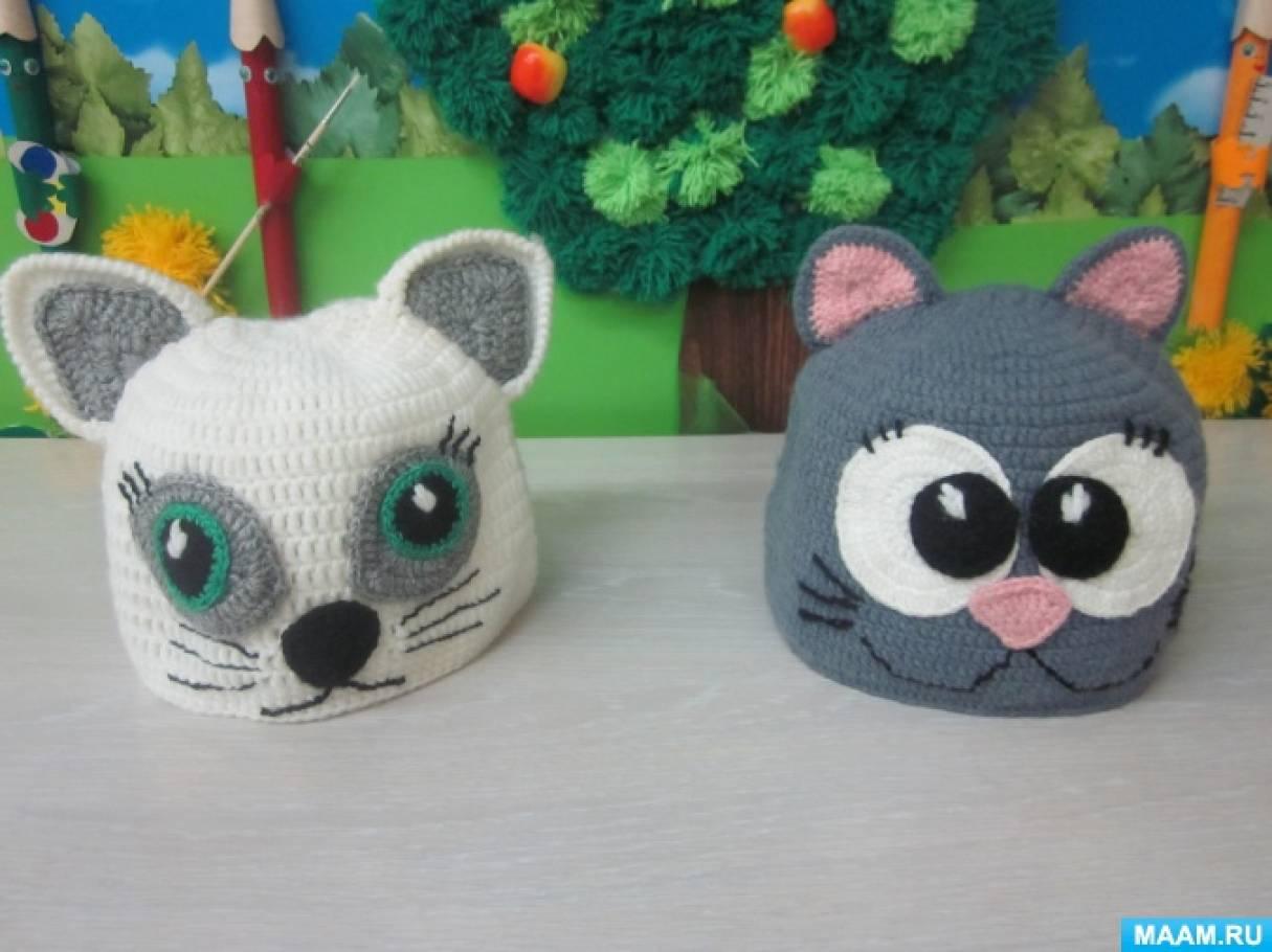 Вязаные шапочки-маски для театральной деятельности детей