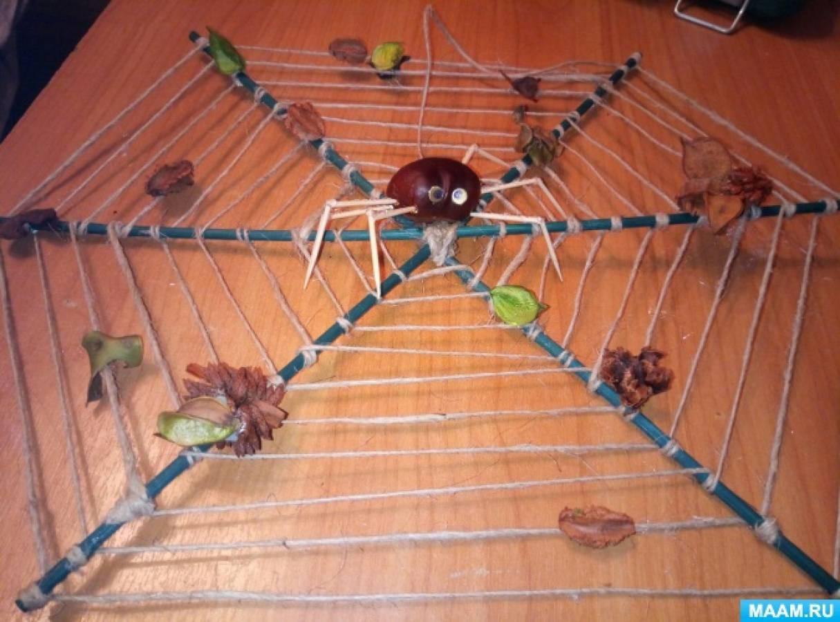 Мастер-класс по изготовлению поделки из природного материала «Паук»