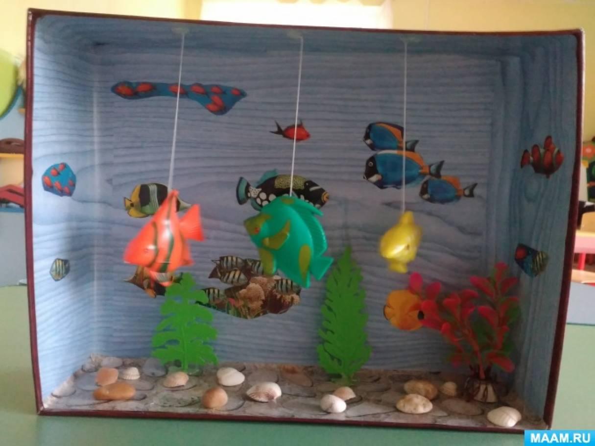 Макет «Сухой аквариум» в уголке природы