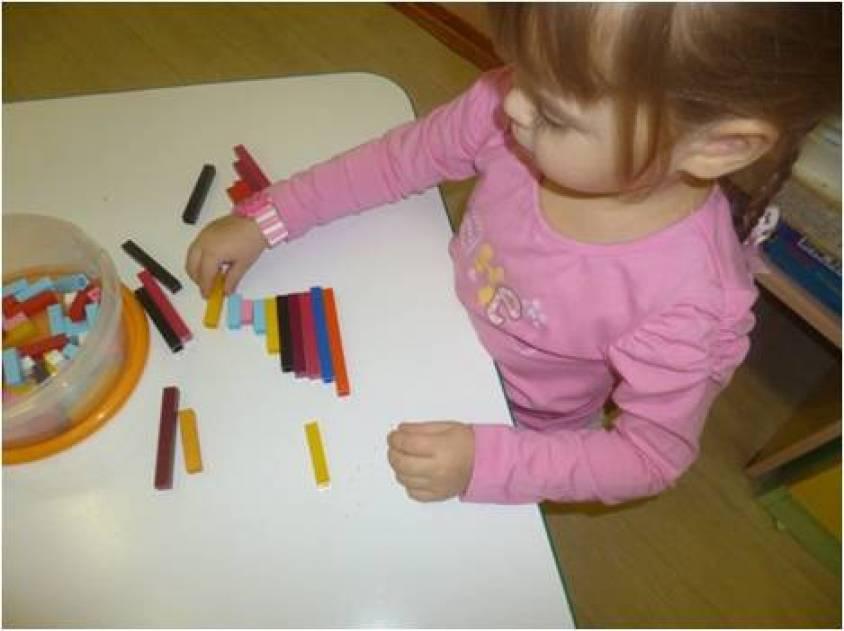 Использование палочек Кюизенера в познавательно-речевом развитии на занятиях по математике детей второй младшей группы