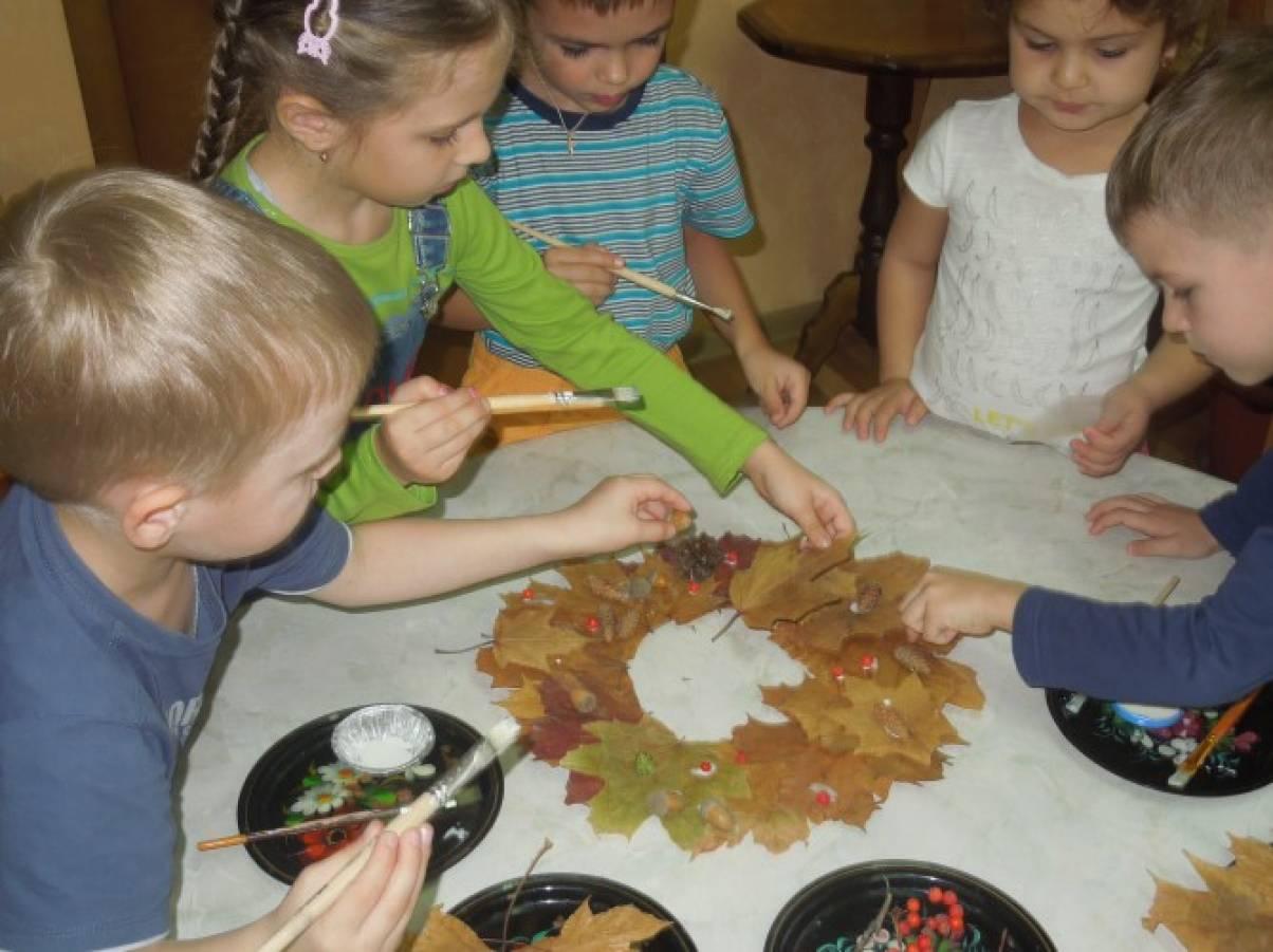 в детском саду аппликация из природного материала конспекты занятий