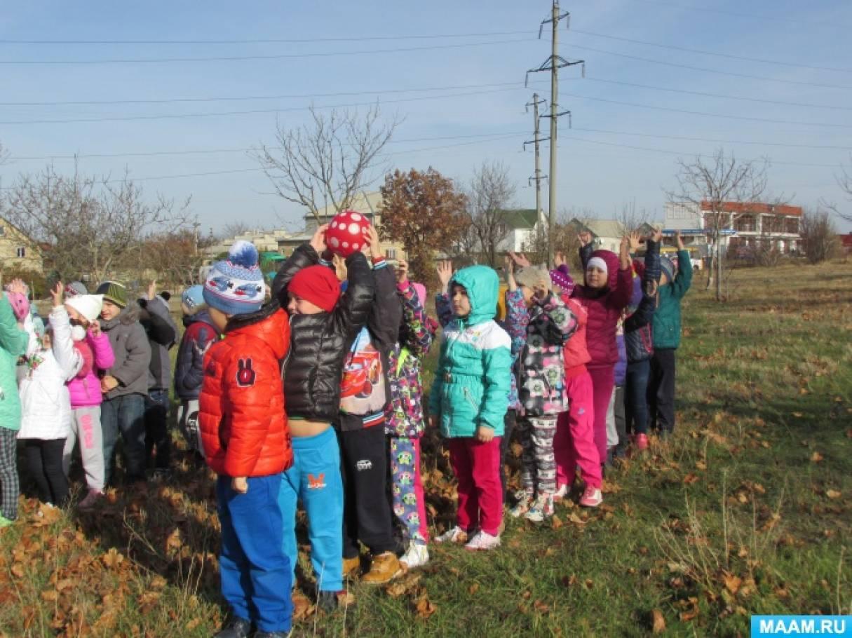 Фотоотчёт «Леснушка и дети. Осенний пеший поход с детьми подготовительной группы»