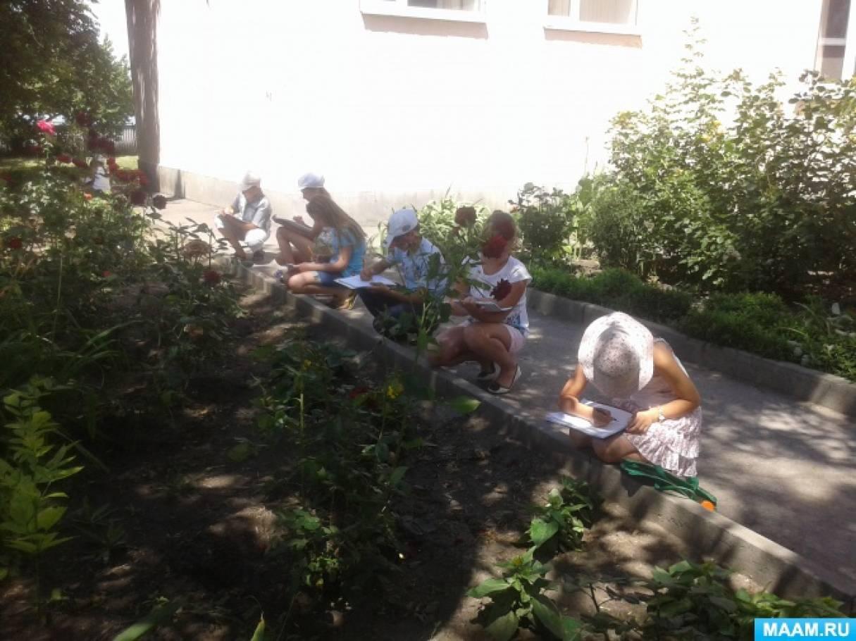 Пленэрная практика в Багаевском отделении художественного центра