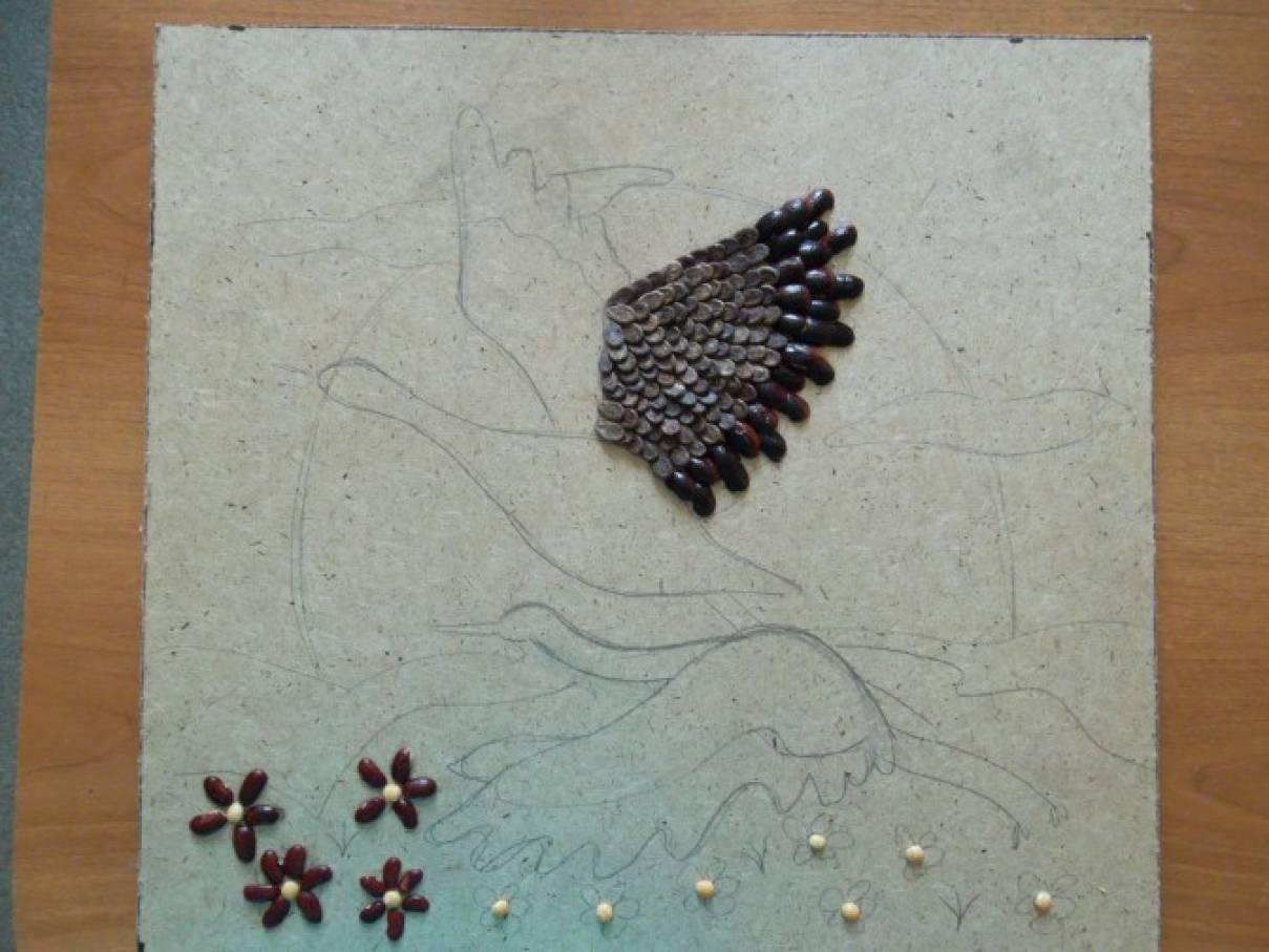 Шаблоны для поделок из семян 653
