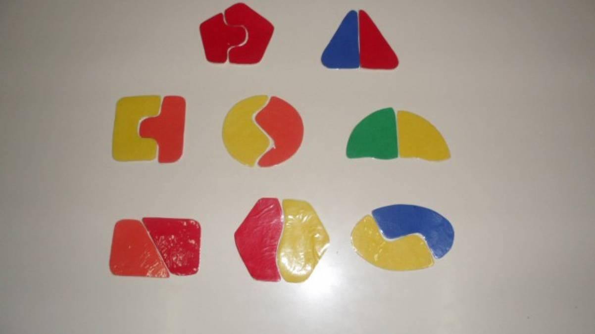 Дидактическая игра «Собери геометрические фигуры»