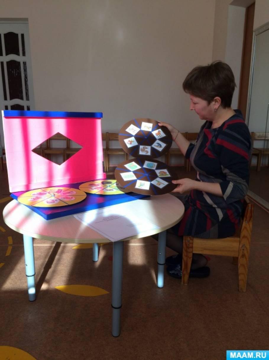 Дидактическое пособие «Веселая карусель» по типу кругов Луллия для детей младшего дошкольного возраста