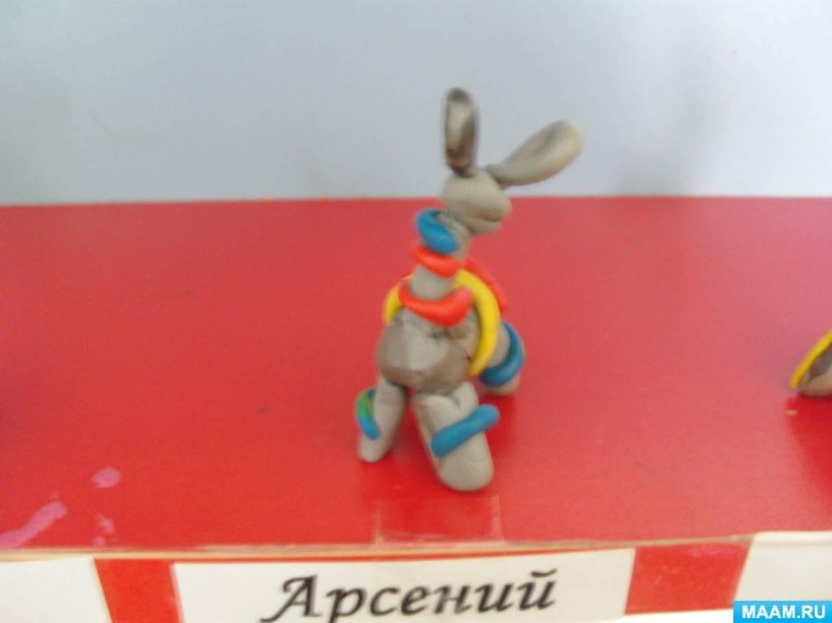 Лепка в средней группе «Барашек» по образу филимоновской игрушки