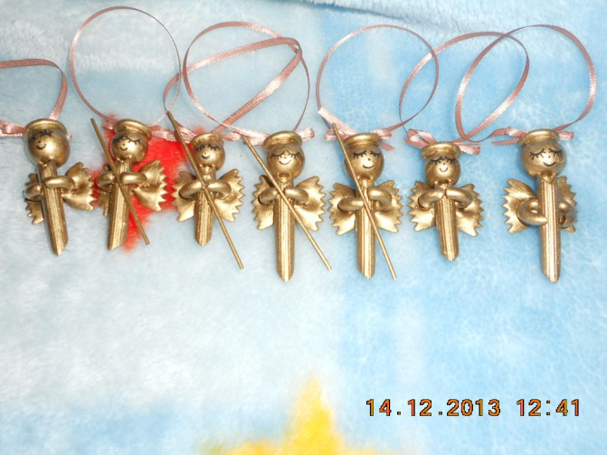 Ангелочки из макарон своими руками мастер класс 41