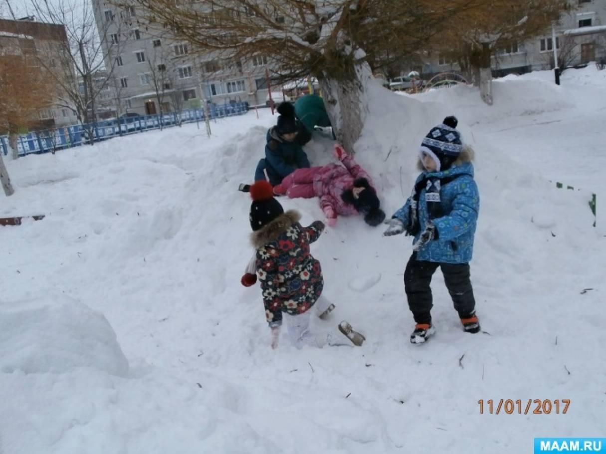 Игры со снегом на прогулке (из опыта работы)