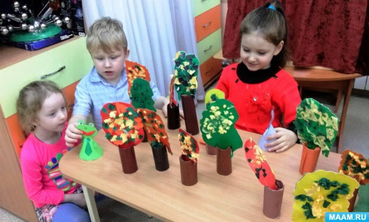 Настольный театр, сделанный руками детей