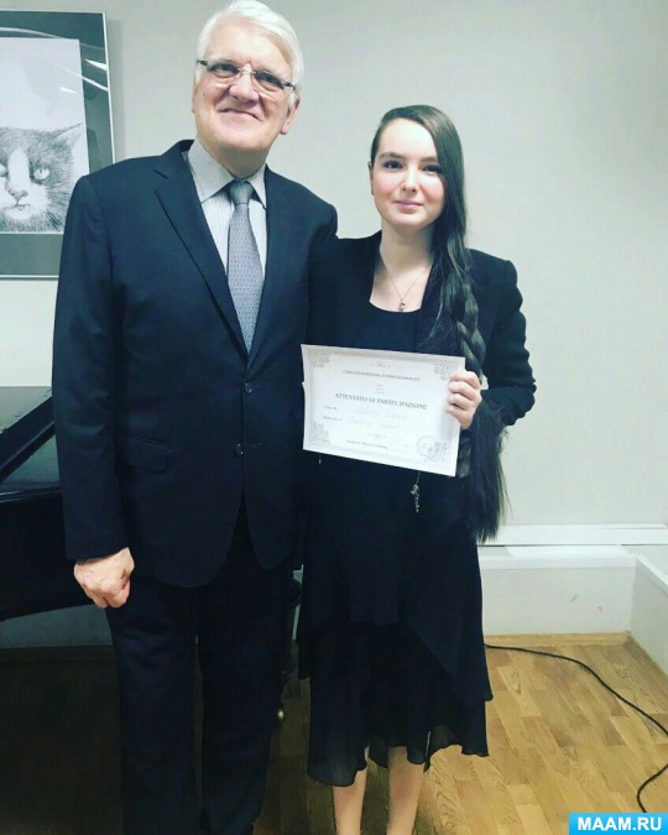 Наша ученица выступила в заключительном концерте лучших вокалистов мастер-классов Мауро Тромбетты