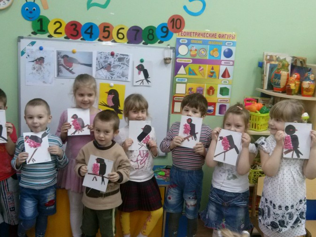 Конспект образовательной деятельности по художественно-эстетическому развитию «Снегирь» для детей старшей группы