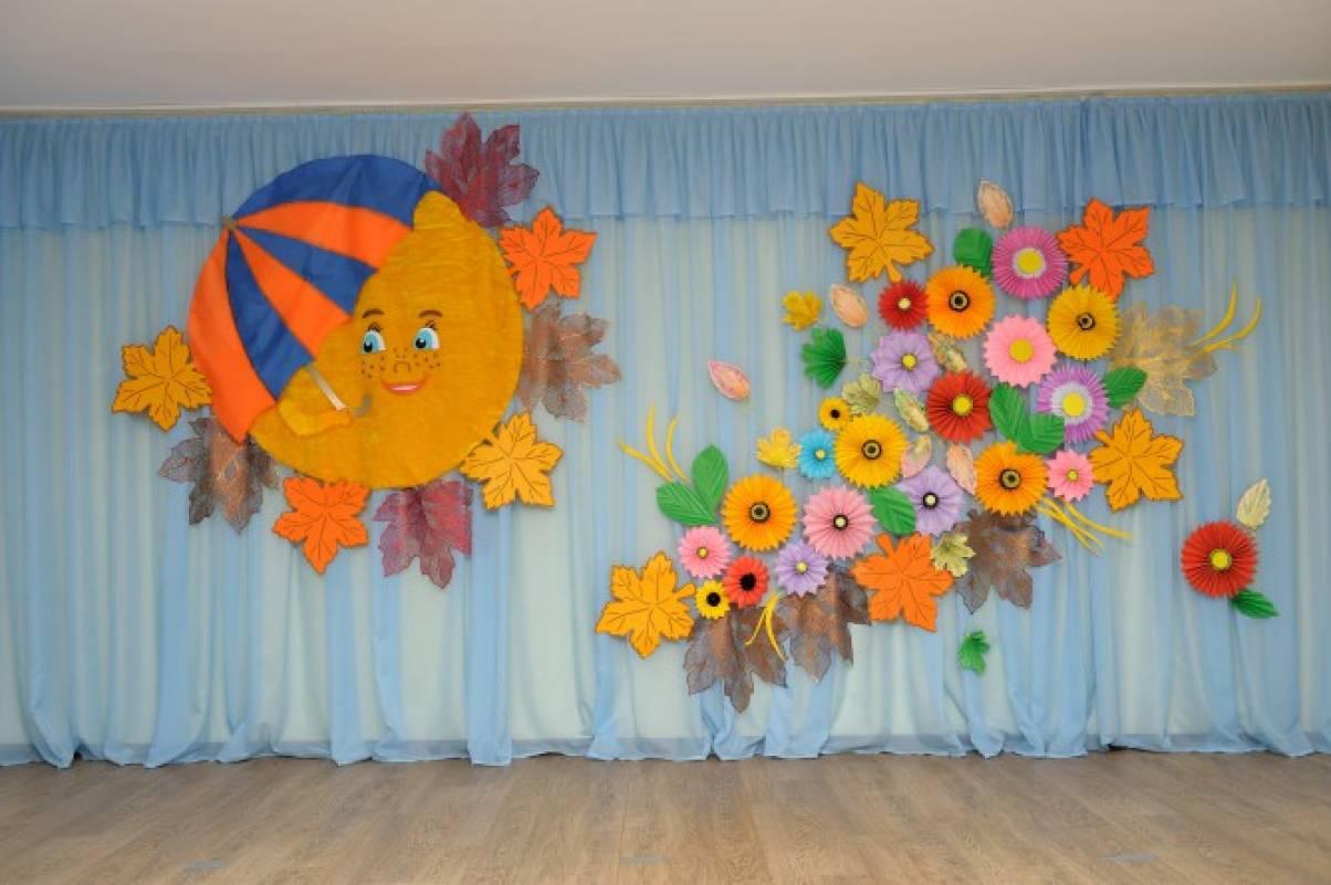 Цветы для украшения зала в детском саду