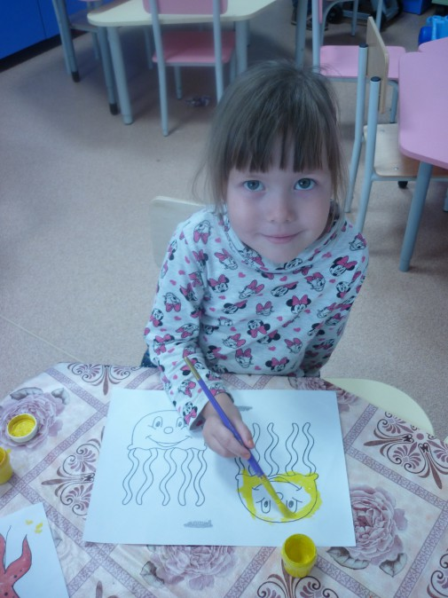 знакомство детей с морскими обитателями