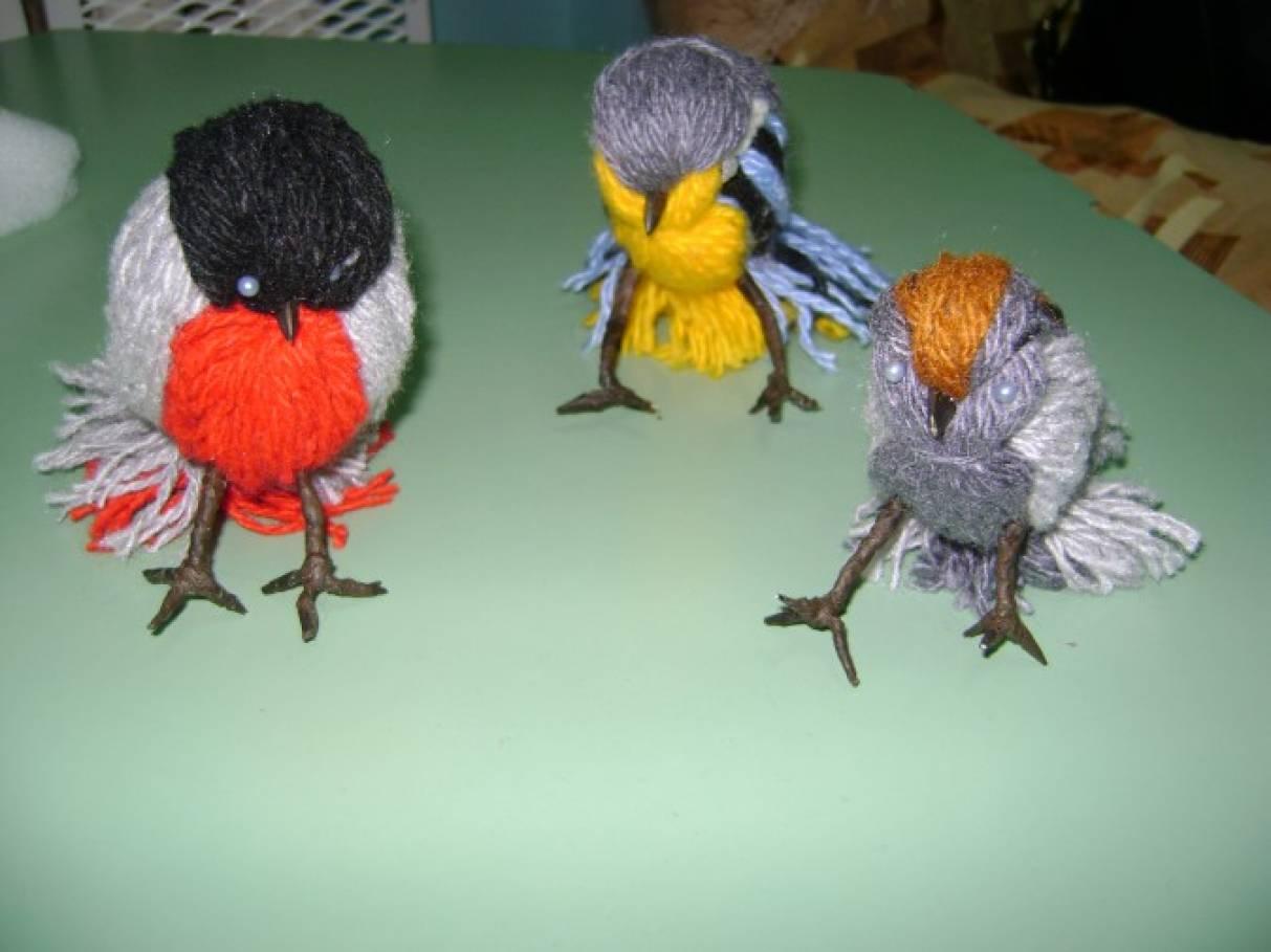 Птица из природного материала своими руками 28
