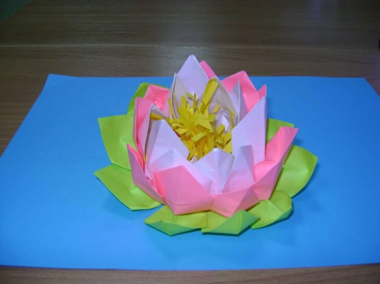 detsad-358845-1457624288 Цветок лотоса из бумаги в технике оригами (мастер-класс). Воспитателям детских садов, школьным учителям и педагогам
