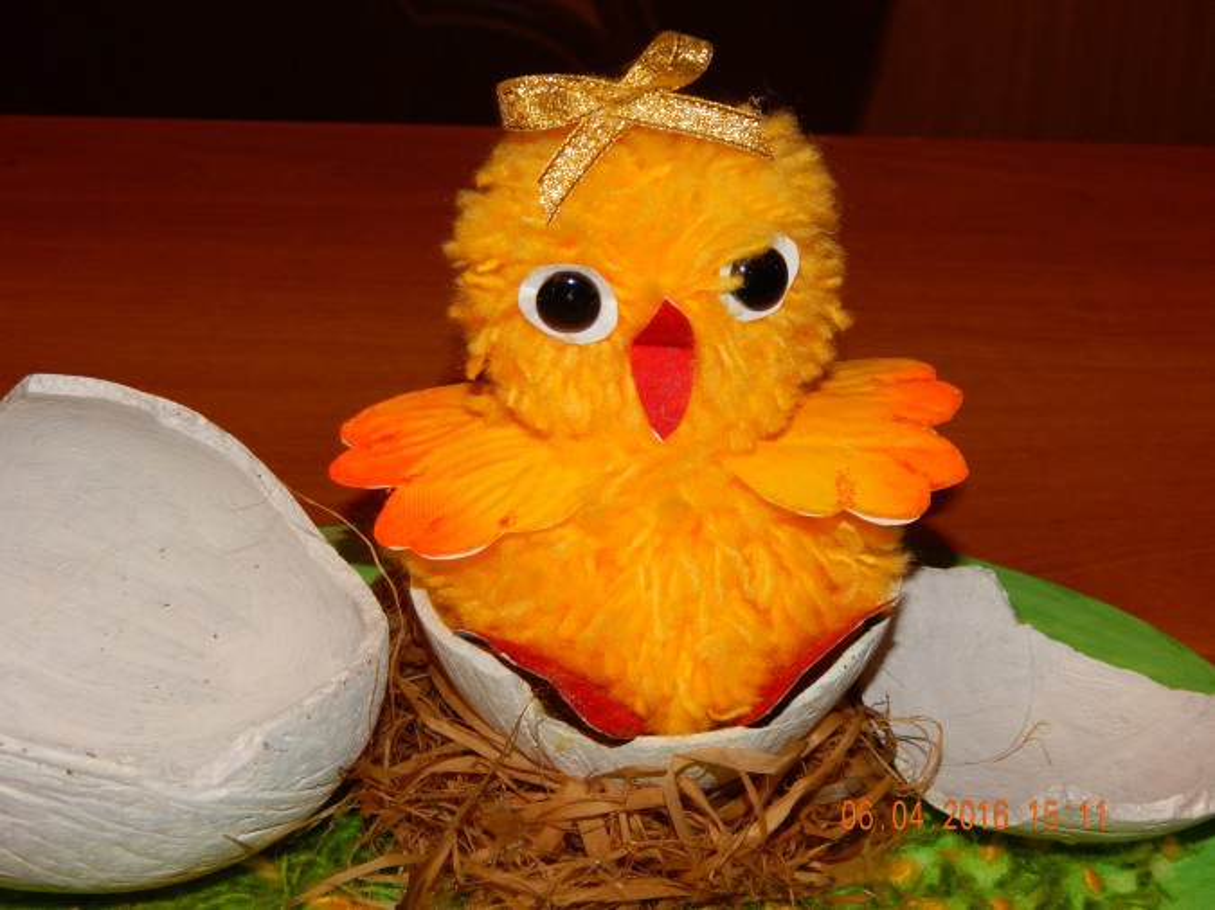 Поделки из бросового материала цыплята