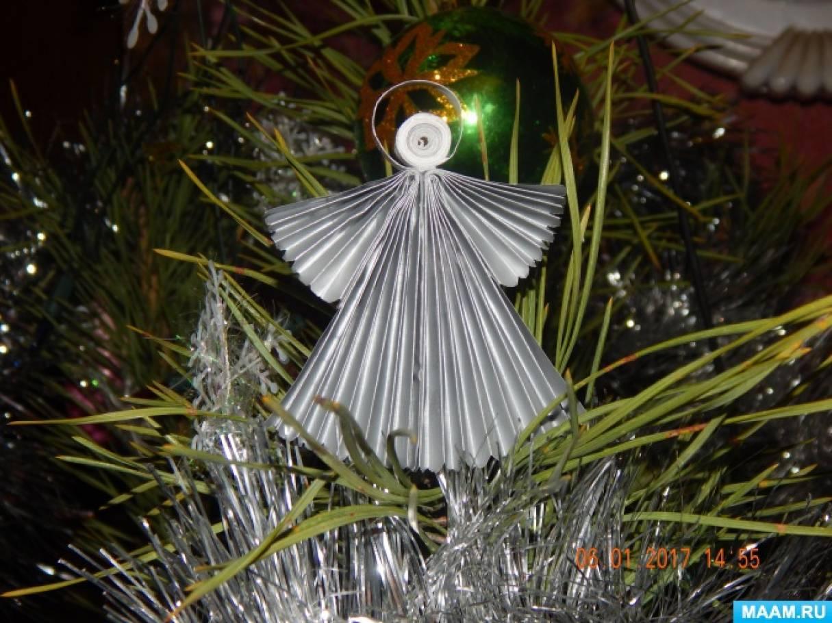Рождественские ангелочки из бумаги. Мастер-класс