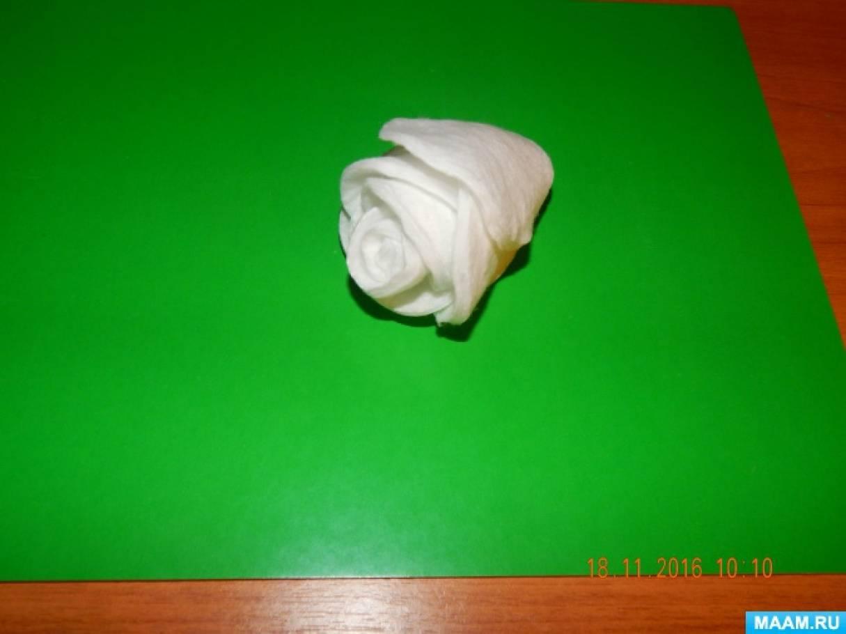 detsad-358845-1488460998 Поделки из ватных дисков своими руками. Цветы из ватных дисков: подснежники, розы, ромашки, каллы. Топиарий из ватных дисков. Детские поделки из ватных дисков в детский сад, школу: фото