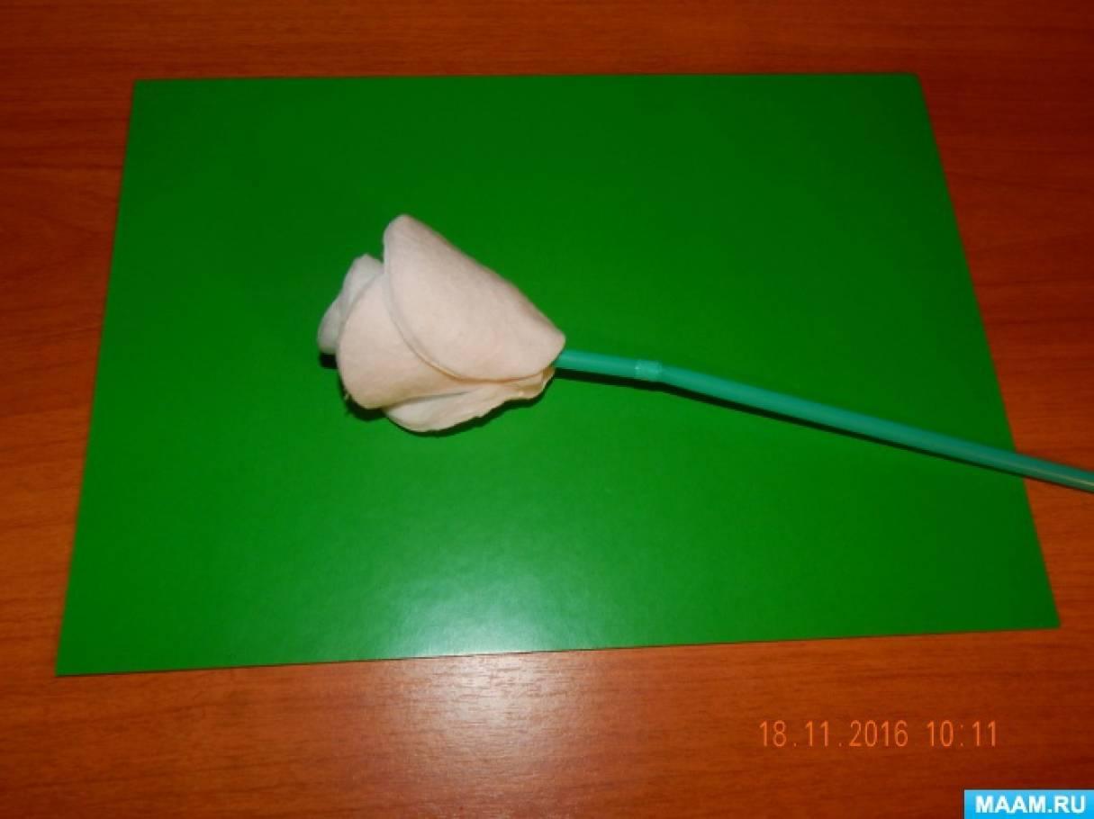detsad-358845-1488461342 Поделки из ватных дисков своими руками. Цветы из ватных дисков: подснежники, розы, ромашки, каллы. Топиарий из ватных дисков. Детские поделки из ватных дисков в детский сад, школу: фото