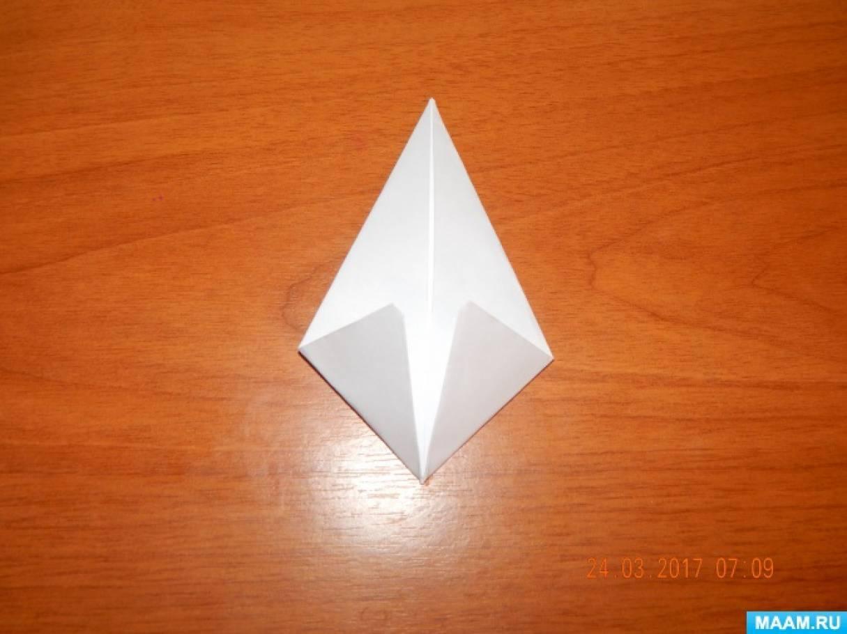 Оригами подснежники своими руками 45